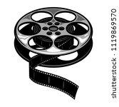 vintage film reel concept with... | Shutterstock .eps vector #1119869570