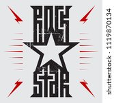 rockstar   music poster with... | Shutterstock .eps vector #1119870134