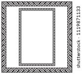 black square and rectangular... | Shutterstock .eps vector #1119871133