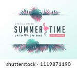 summer sale background layout... | Shutterstock .eps vector #1119871190