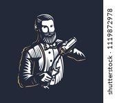 bearded barmen  barkeeper or... | Shutterstock .eps vector #1119872978