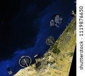dubai seen from space. dubai... | Shutterstock . vector #1119876650