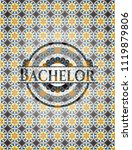 bachelor arabesque emblem...   Shutterstock .eps vector #1119879806