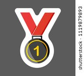 vector icon colored sticker...   Shutterstock .eps vector #1119879893