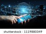 businessman on blurred... | Shutterstock . vector #1119880349