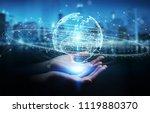 businesswoman on blurred... | Shutterstock . vector #1119880370
