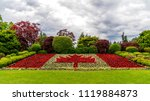 canadian flagg made out of... | Shutterstock . vector #1119884873