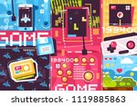 video game abstract background. ... | Shutterstock .eps vector #1119885863