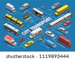 public city transport isometric ... | Shutterstock .eps vector #1119893444