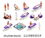 spa salon isometric icons with... | Shutterstock .eps vector #1119893519