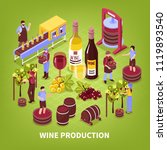 wine production composition... | Shutterstock .eps vector #1119893540