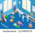 physiotherapy rehabilitation... | Shutterstock .eps vector #1119893579