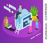 people and interfaces isometric ...