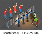 police and people isometric... | Shutterstock .eps vector #1119893636