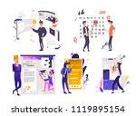 using application set  ... | Shutterstock .eps vector #1119895154