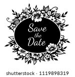 romantic oval frame with... | Shutterstock .eps vector #1119898319