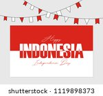 indonesia independence day | Shutterstock .eps vector #1119898373