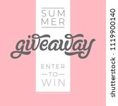 giveaway banner for contests in ... | Shutterstock .eps vector #1119900140