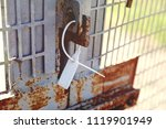 the closed seal is fixed to the ... | Shutterstock . vector #1119901949