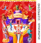 circus poster with a conference....   Shutterstock .eps vector #1119902540