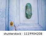 beautiful old blue door | Shutterstock . vector #1119904208