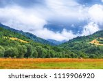 landscape of a mountain hill at ... | Shutterstock . vector #1119906920