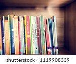 children's books at elementary... | Shutterstock . vector #1119908339