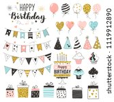 birthday greeting party... | Shutterstock .eps vector #1119912890