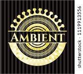 ambient gold badge | Shutterstock .eps vector #1119913556