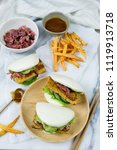 delicious homemade meals  ...   Shutterstock . vector #1119913718