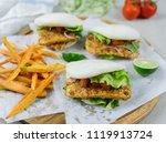 delicious homemade meals  ...   Shutterstock . vector #1119913724