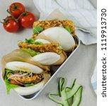 delicious homemade meals  ...   Shutterstock . vector #1119913730