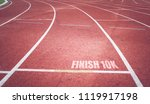 running track with vintage... | Shutterstock . vector #1119917198