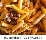 delicious italian pasta with... | Shutterstock . vector #1119918674