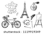 part 1. french design elements...   Shutterstock .eps vector #1119919349