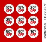 sale tags 10  15  20  25  30 ... | Shutterstock .eps vector #1119919379