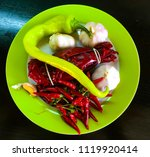 organic vegetable  hot chilli... | Shutterstock . vector #1119920414