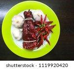 organic vegetable  hot chilli... | Shutterstock . vector #1119920420