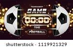 football banner or flyer design ...   Shutterstock .eps vector #1119921329
