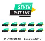 modern number of days left tags | Shutterstock .eps vector #1119922040