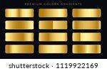 premium golden gradients... | Shutterstock .eps vector #1119922169
