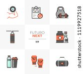 modern flat icons set of weight ... | Shutterstock .eps vector #1119927518