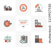 modern flat icons set of lean... | Shutterstock .eps vector #1119927530