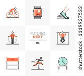 modern flat icons set of high... | Shutterstock .eps vector #1119927533