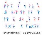 birthday party vector set.... | Shutterstock .eps vector #1119928166