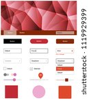 light blue  red vector web ui...