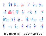 people shopping at mall or... | Shutterstock .eps vector #1119929693