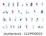 different people characters.... | Shutterstock .eps vector #1119930023