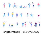 different people characters.... | Shutterstock .eps vector #1119930029