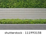 decorative garden on a brick... | Shutterstock . vector #111993158